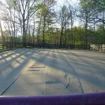 Smaller riding arena graded and rolled