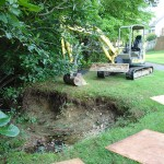 Eroded Creek Bank Repair
