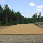 sand hauled in and graded level