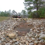 Eroded Spillway Repair