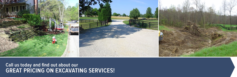 Call us today and find out about our great pricing on excavating services!